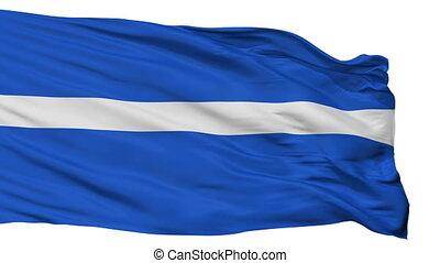 Isolated Keila city flag, Estonia - Keila flag, city of...