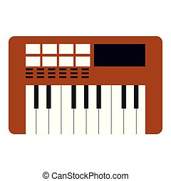 Isolated keyboard icon. Musical instrument