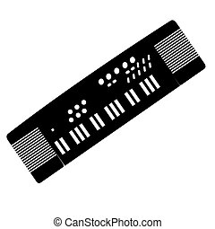 Isolated keyboard silhouette