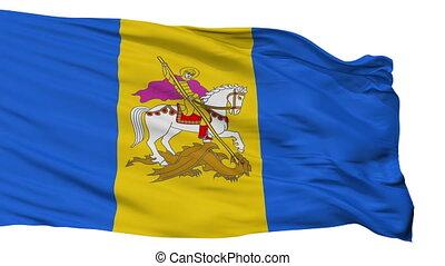 Isolated Kiev Oblast flag, Ukraine - Kiev Oblast flag,...