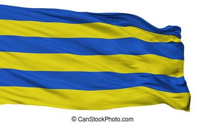 Isolated Kilingi Nomme Parnu County city flag, Estonia -...