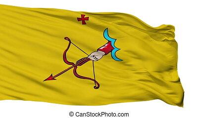 Isolated Kirov city flag, Russia - Kirov flag, city of...