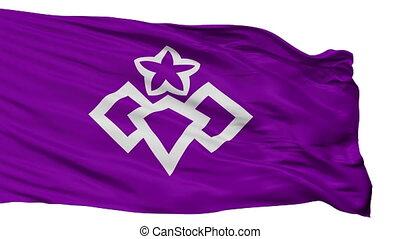 Isolated Kiryu city flag, prefecture Gunma, Japan - Kiryu...