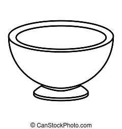 Isolated kitchen bowl design