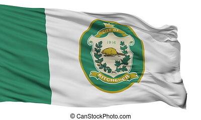 Isolated Kitchener city flag, Canada - Kitchener flag, city...