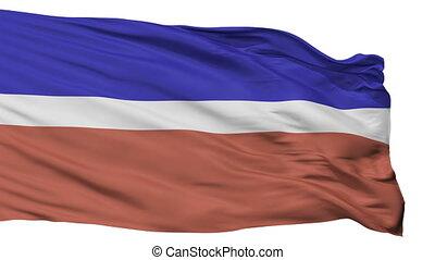 Isolated Kivioli city flag, Estonia - Kivioli flag, city of...