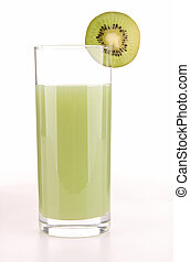 isolated kiwi drink