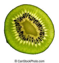 Isolated kiwi
