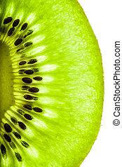 Isolated kiwi fruit slice