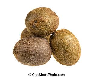 Isolated Kiwi fruits