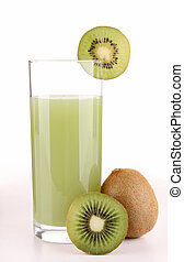 isolated kiwi juice