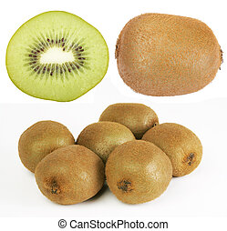 isolated kiwi on the white background