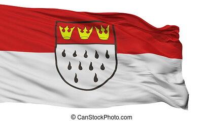 Isolated Koeln city flag, Germany - Koeln flag, city of...