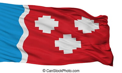 Isolated Kommunar city flag, Russia - Kommunar flag, city of...