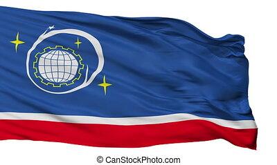 Isolated Korolyov city flag, Russia - Korolyov flag, city of...