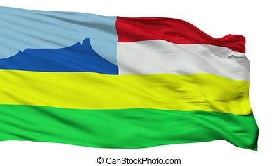 Isolated Kota Kinabalu city flag, Malaysia - Kota Kinabalu...