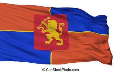 Isolated Krasnoyarsk city flag, Russia - Krasnoyarsk flag,...