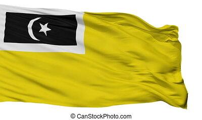 Isolated Kuala Terengganu city flag, Malaysia - Kuala...