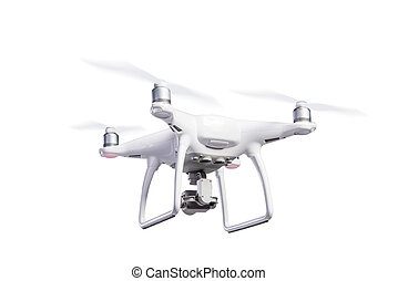 isolated., lövés, repülés, henyél, műterem, fényképezőgép., helikopter