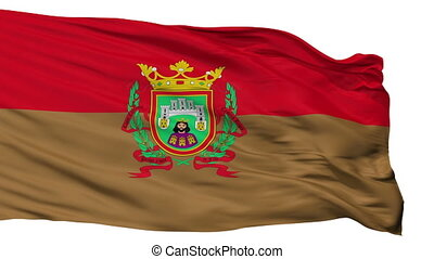 Isolated La ciudad Burgos city flag, Spain - La ciudad...