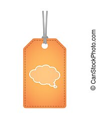 Isolated label icon with a comic cloud balloon