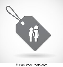 Isolated label with a childhood pictogram