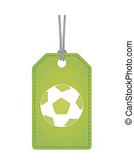 Isolated label with a soccer ball