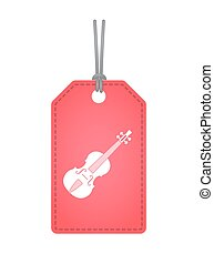 Isolated label with a violin