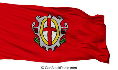 Isolated Labina city flag, Croatia - Labina flag, city of...
