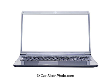 isolated laptop computer with 2 clipping path (laptop ...