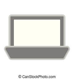 Isolated laptop symbol on white background