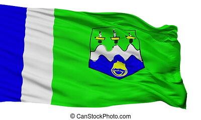 Isolated Larache province flag, Morocco - Larache province...