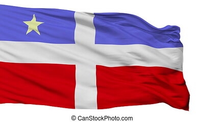 Isolated Lares city flag, Puerto Rico - Lares flag, city of...