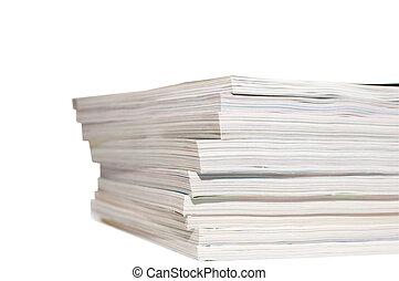 heap of magazines - isolated large heap of magazines on...