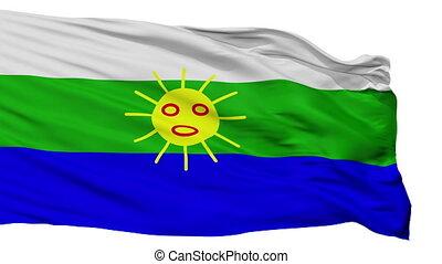 Isolated LasPiedras city flag, Puerto Rico - LasPiedras...