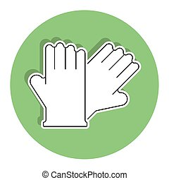 Isolated latex gloves icon. Cleaning products icon - Vector