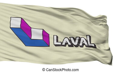 Isolated Laval city flag, Canada - Laval flag, city of...