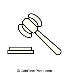 Isolated law hammer vector design