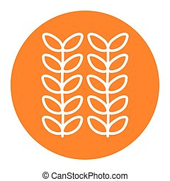 Isolated leaves block line style icon vector design
