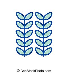 Isolated leaves line and fill style icon vector design