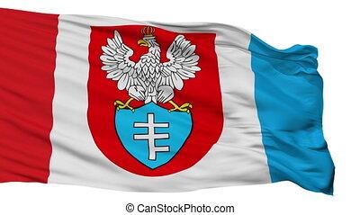 Isolated Legionowo city flag, Poland - Legionowo flag, city...