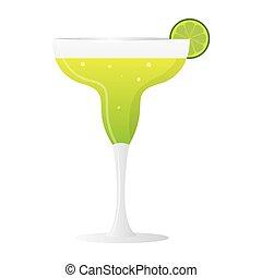 Isolated lemon cocktail glass image - Vector illustration