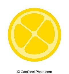 Isolated lemon cut icon. Healthy food - Vector illustration