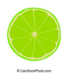 Isolated lemon cut - Isolated cut of a lemon, Vector ...