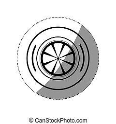 Isolated lemon design - Lemon icon. Organic healthy and ...