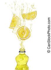 Lemon drink splash