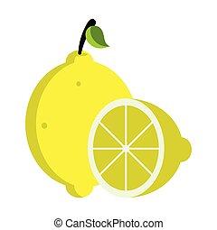 Isolated lemon fruit image. Vector illustration design