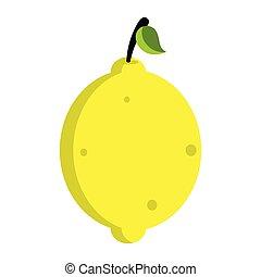 Isolated lemon icon image. Vector illustration design
