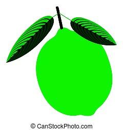 Isolated lemon illustration - Isolated lemon on a white ...