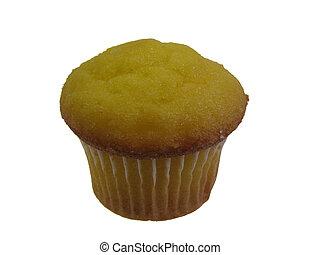 isolated lemon muffin